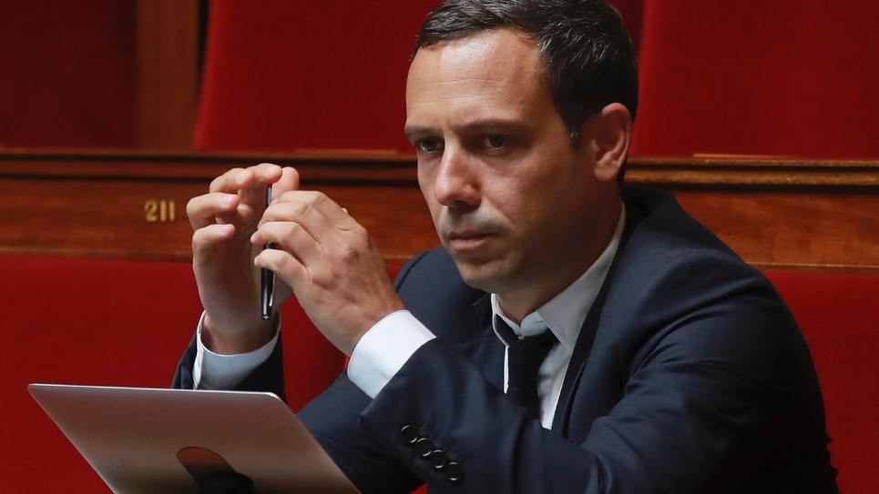 Adrien Taquet, député REM, à l'Assemblée nationale à Paris le 28 juin 2017
