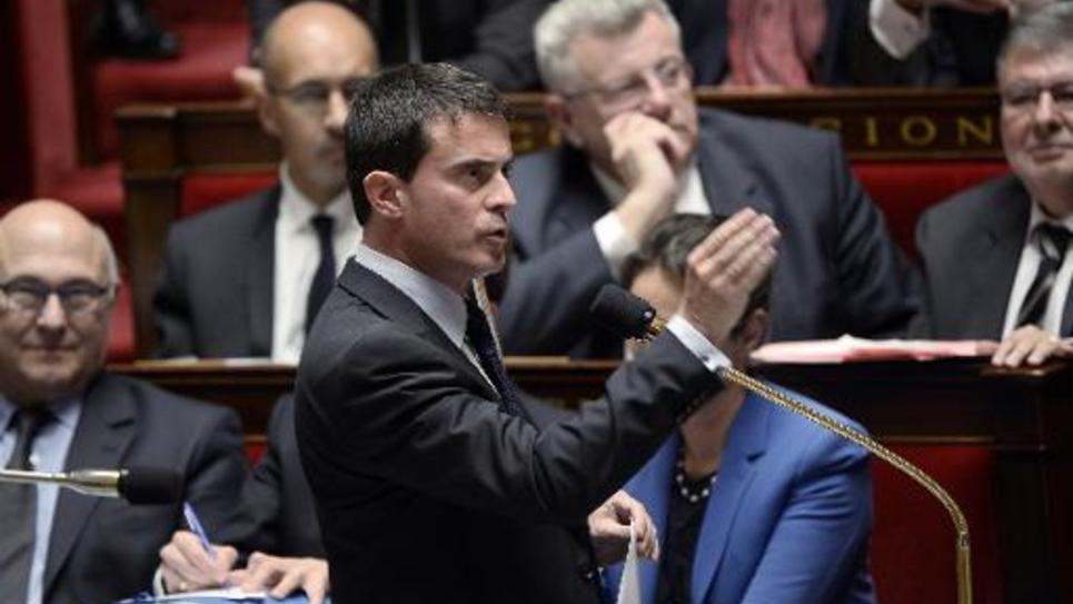 Le Premier ministre Manuel Valls à l'Assemblée nationale, le 7 octobre 2014 à Paris