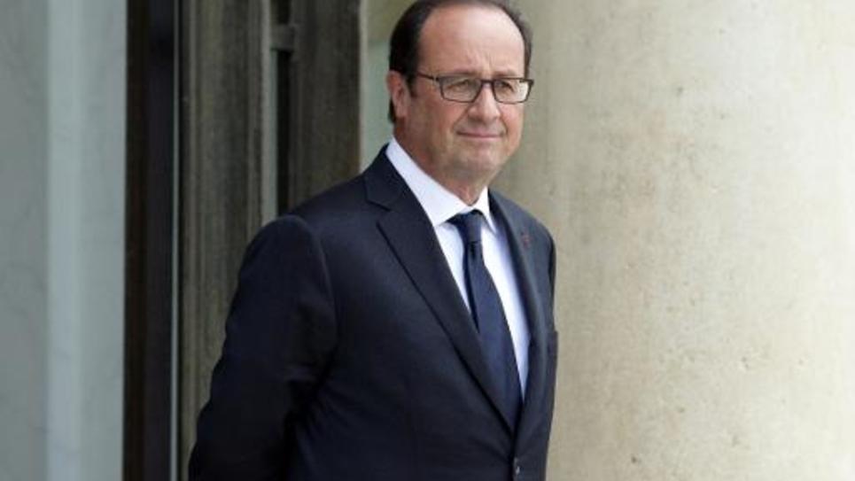 François Hollande le 1er septembre 2014 sur le perron de l'Elysée à Paris