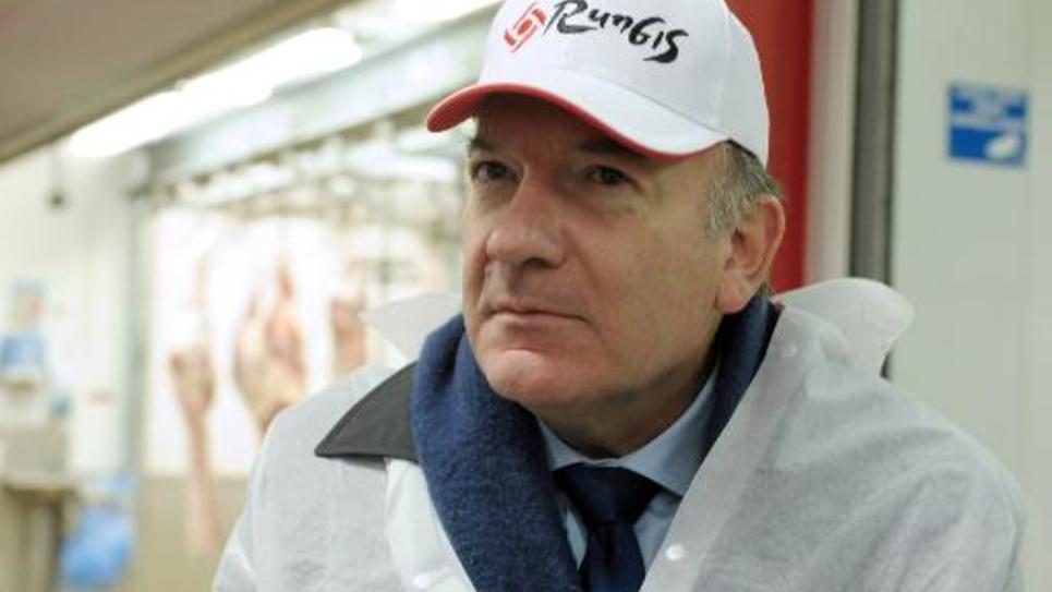 Le numéro un du Medef Pierre Gattaz à Rungis près de Paris le 12 décembre 2014