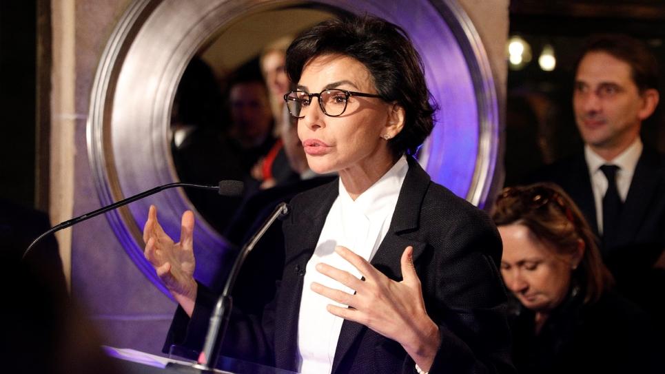 Rachida Dati ancienne ministre de la Justice lors d'une réunion électorale à Paris, le 7 novembre 2019