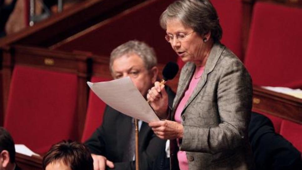 La députée PS Catherine Coutelle, le 8 décembre 2009 à l'Assemblée nationale