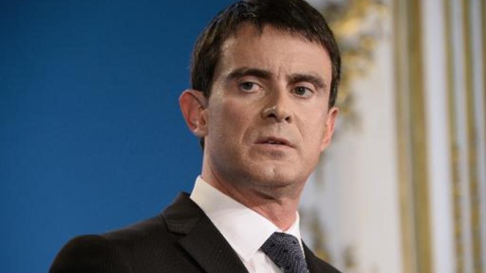 Le Premier ministre Manuel Valls le 7 janvier 2015 à Paris