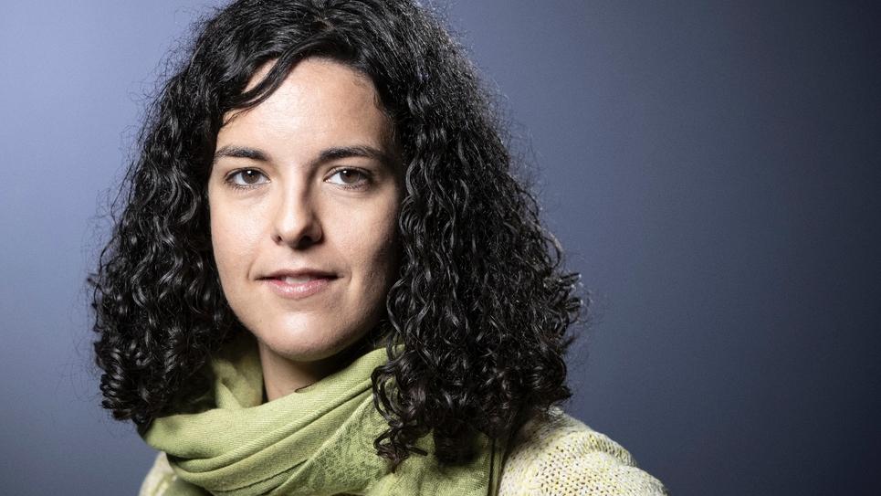 Manon Aubry, tête de liste de La France insoumise aux élections européennes, le 9 janvier 2019 à Paris