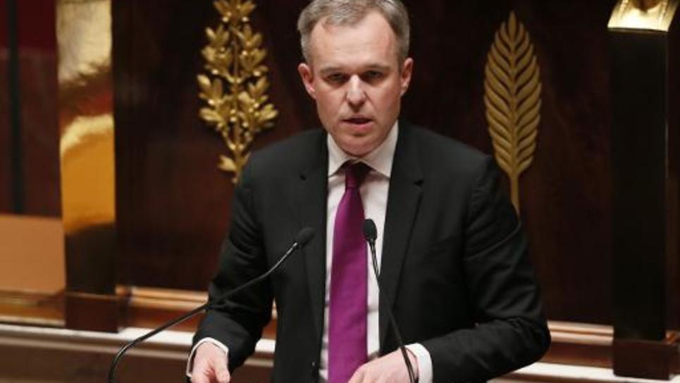 Le député écologiste François de Rugy le 8 avril 2014 à l'Assemblée nationale à Paris