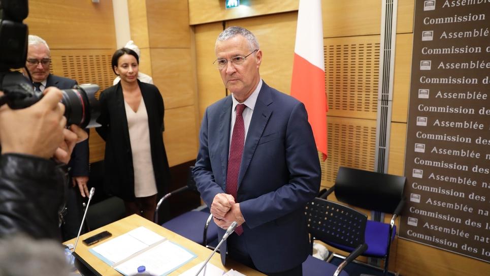 Le directeur de cabinet du président de la République Patrick Strzoda devant la commission d'enquête de l'Assemblée nationale à Paris, le 24 juillet 2018