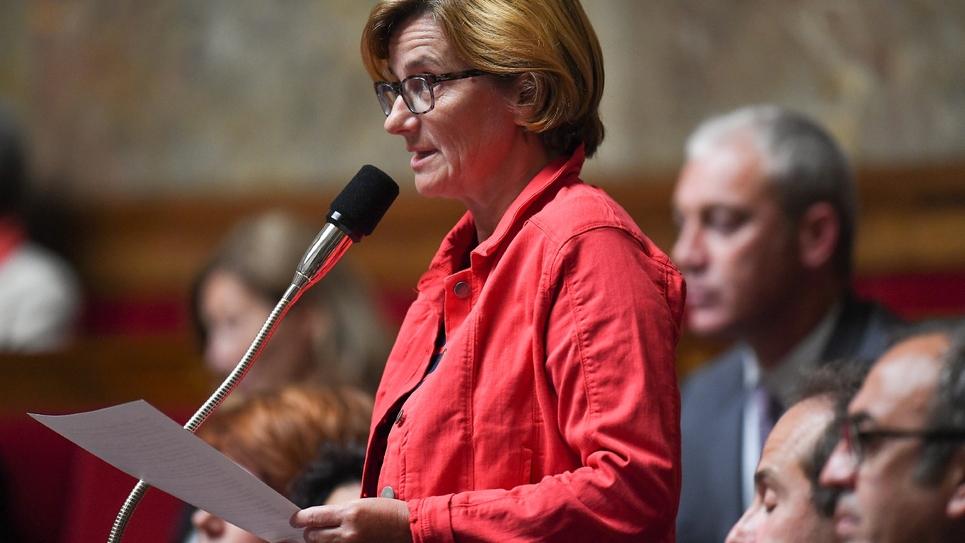 La députée UDI Agnès Firmin-Le Bodo, à l'Assemblée nationale le 19 juin 2018