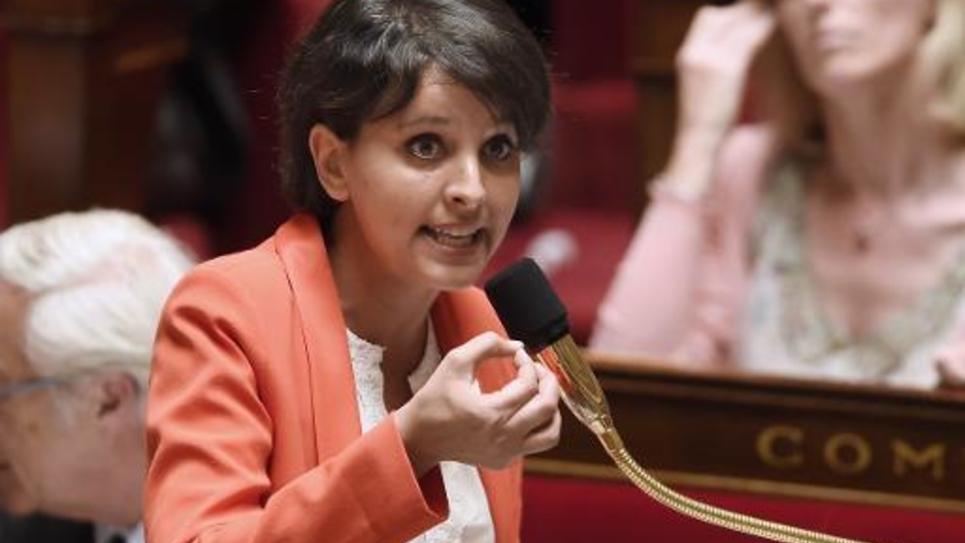 La ministre de l'Education nationale Najat Vallaud-Belkacem à l'Assemblée nationale à Paris, le 12 mai 2015