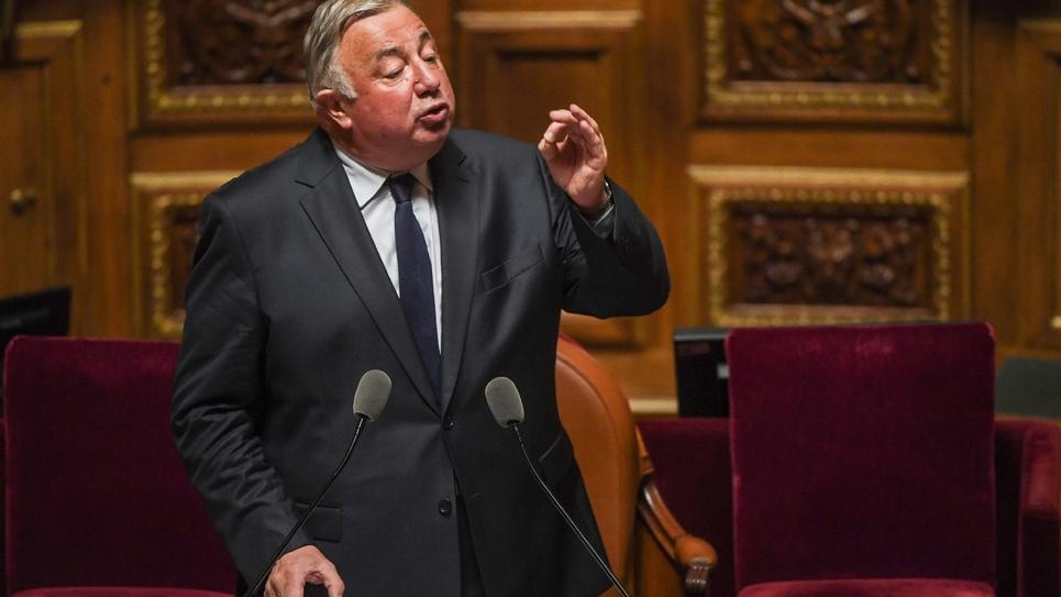Gérard Larcher, président LR du Sénat, lors d'une session parlementaire, le 2 octobre 2017