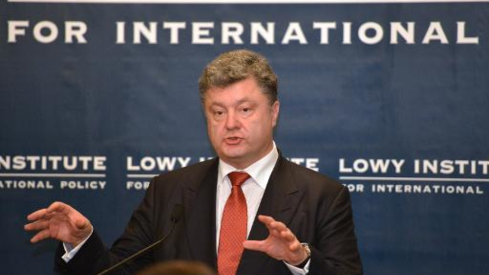 Le président ukrainien Petro Porochenko, le 12 décembre 2014 à Sydney en Australie