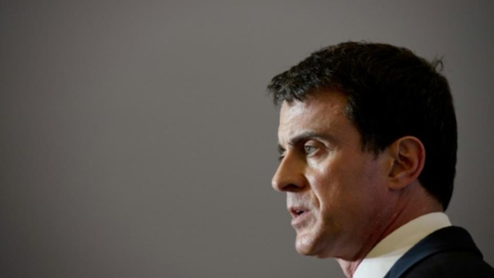 Le Premier ministre français Manuel Valls à Orléans le 1er avril 2016