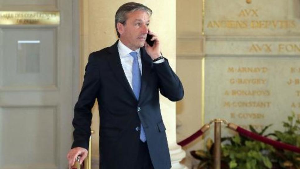 Philippe Vigier, président des députés UDI, le 29 avril 2014 à l'Assemblée nationale à Paris