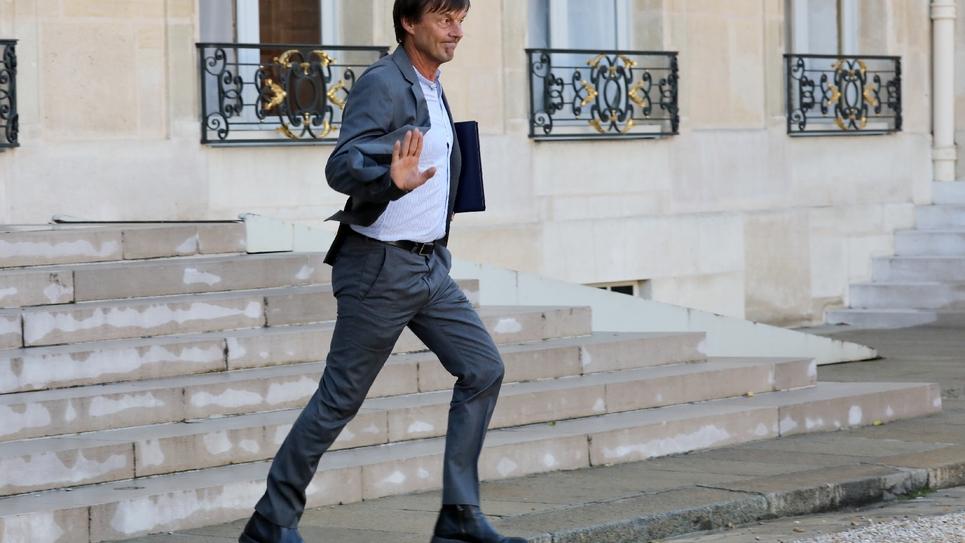 Le ministre de la Transition écologique et solidaire, Nicolas Hulot, le 14 septembre 2017 à Paris