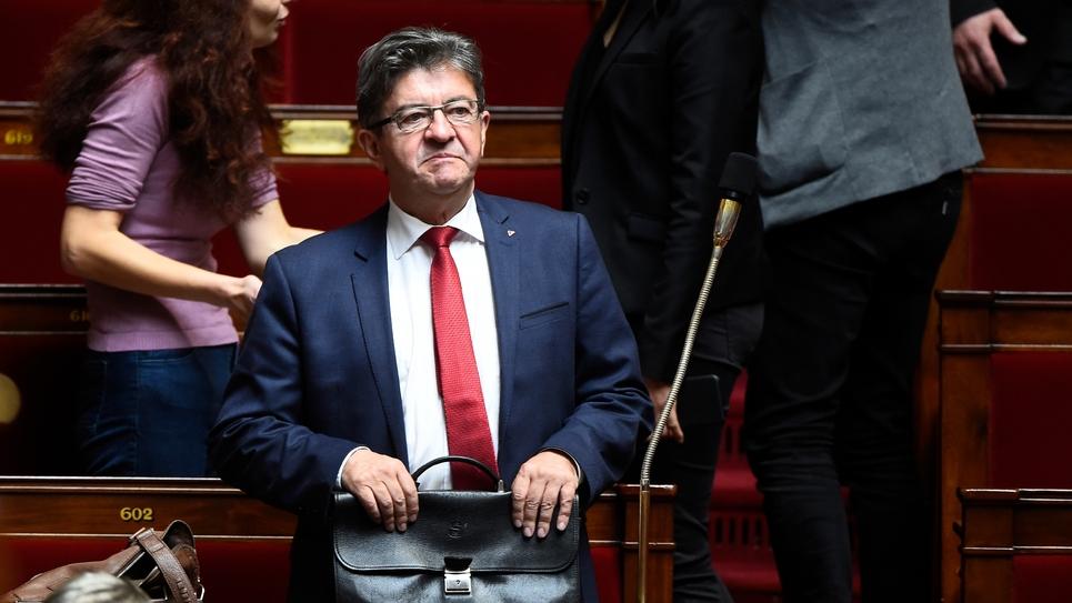 Le leader de La France insoumise Jean-Luc Mélenchon, le 10 octobre 2017 à l'Assemblée nationale à Paris
