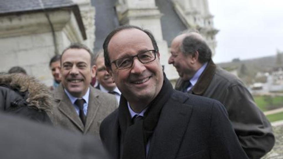 Le président Francois Hollande à Chambord le 19 décembre 2014