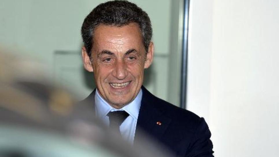 Nicolas Sarkozy après son élection à la présidence de l'UMP, le 1er décembre 2014 à Paris