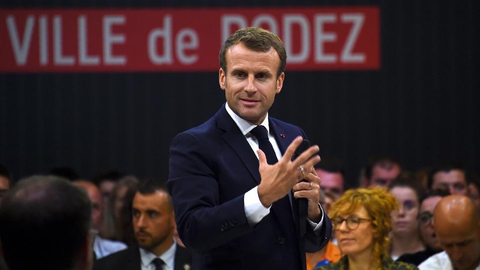 Le président Emmanuel Macron, le 3 octobre 2019 à Rodez