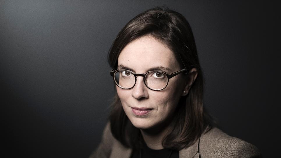 Amélie de Montchalin lors d'une séance photos, le 22 décembre 2017 à Paris
