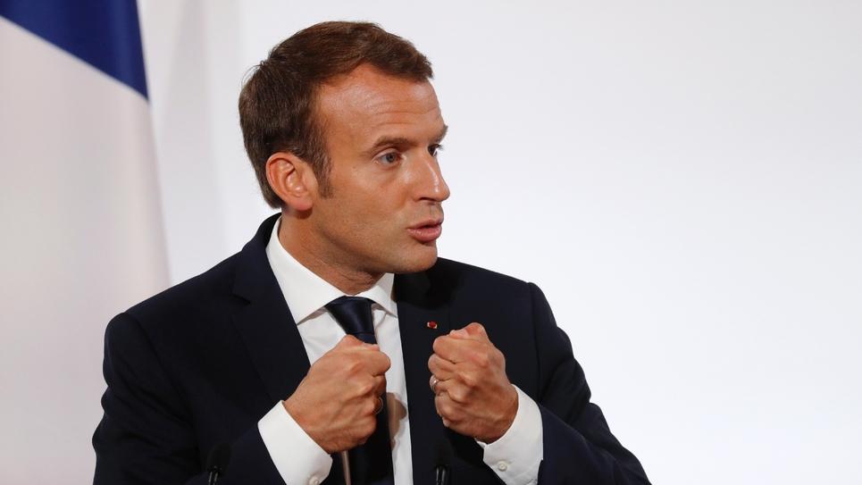 Emmanuel Macron à l'Elyusée, le 18 octobre 2017