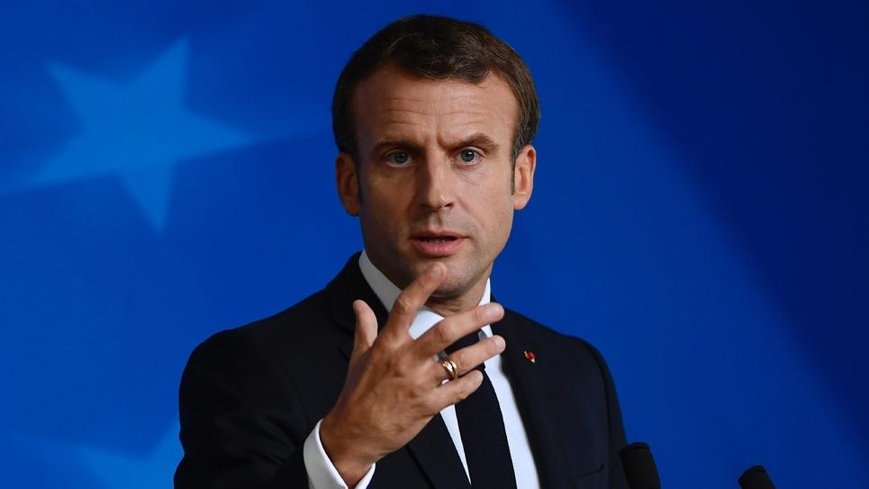 Emmanuel Macron lors du sommet européen à Bruxelles le 18 octobre 2019