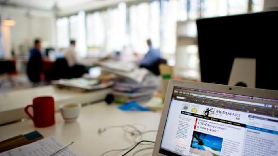 Salle de rédaction de Mediapart en juillet 2010