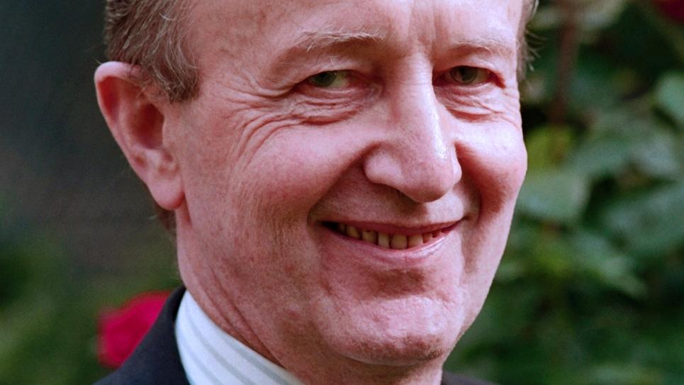 Pierre Arpaillange, le 27 mai1988 au ministère de la Justice