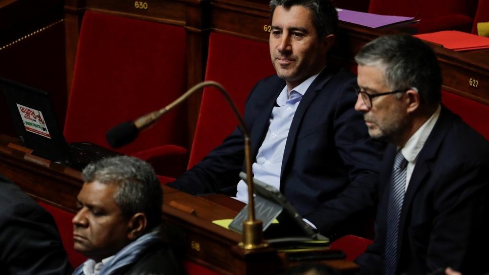 Le journaliste et député français François Ruffin à l'Assemblée nationale le 9 avril 2019