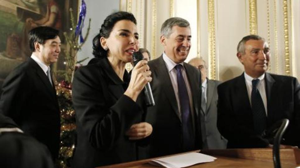 Rachida Dati et Henri Guaino le 13 janvier 2013 à Paris