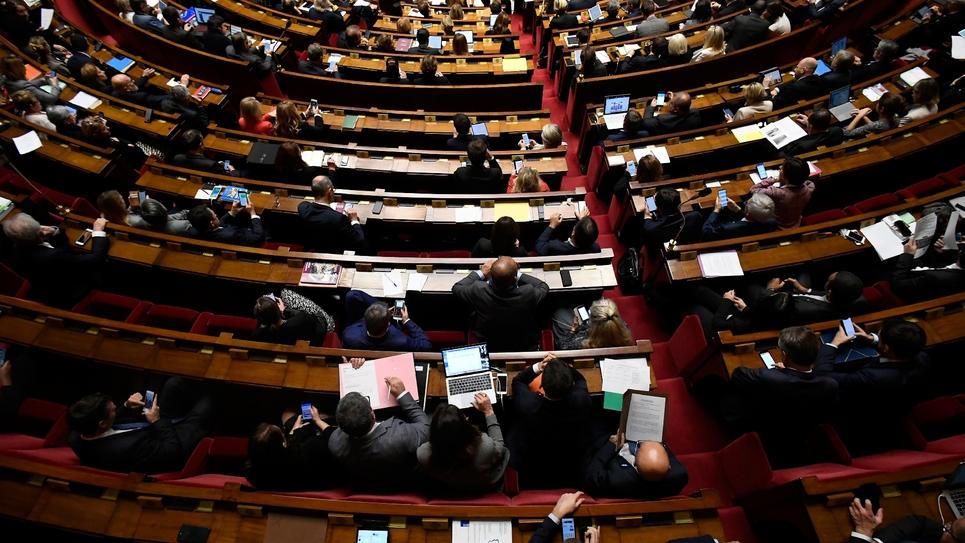 L'Assemblée nationale à Paris le 6 novembre 2018