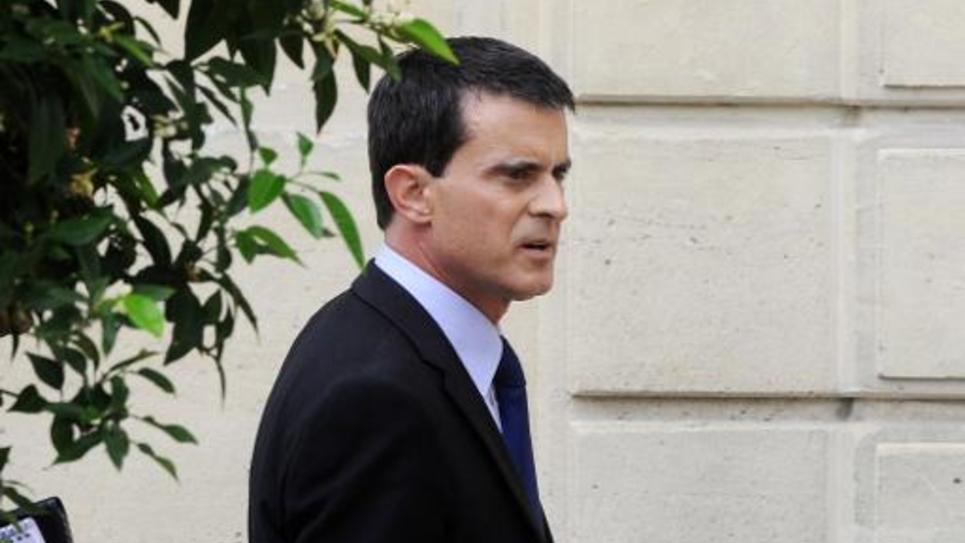 Manuel Valls, le 1er août 2014 au Palais de l'Elysée