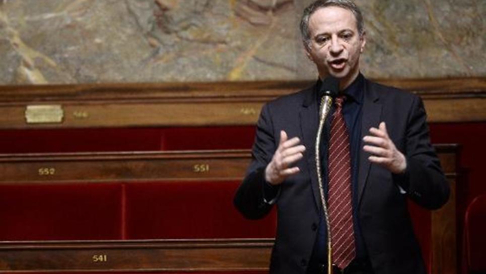 """Lé député PS """"frondeurs"""" Laurent Baumel à l'Assemblée Nationale, le 13 février 2015"""