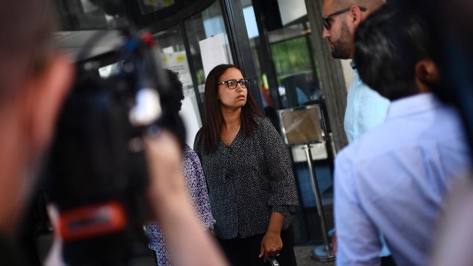 Farida Amrani à Evry dans le sud de Paris le 19 juin 2017, au lendemain du second tour des élections législatives