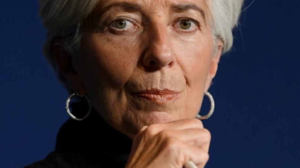 Christine Lagarde  pendant le Forum économique mondial à Davos le 20 janvier 2016