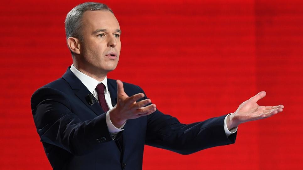 L'écologiste François de Rugy, lors du débat télévisé, le 15 janvier 2017