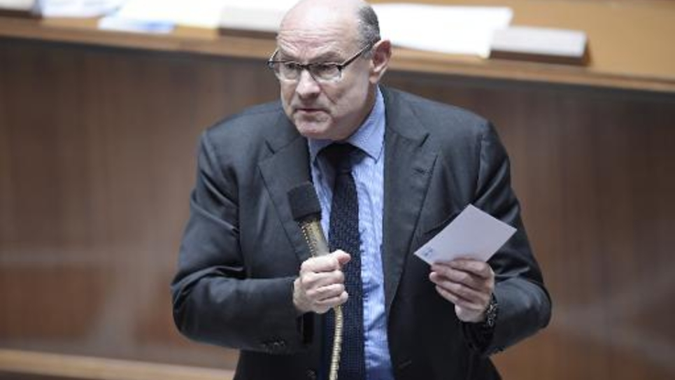 Le secrétaire d'État aux Relations avec le Parlement, Jean-Marie Le Guen, le 31 mars 2015 à l'Assemblée nationale à Paris