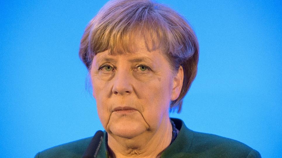 La chancelière Angela Merkel à Perl, le 13 janvier 2017
