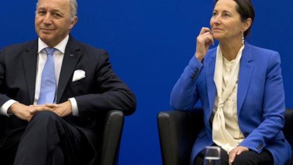 Laurent Fabius et Ségolène Royal le 5 novembre 2014 à Paris