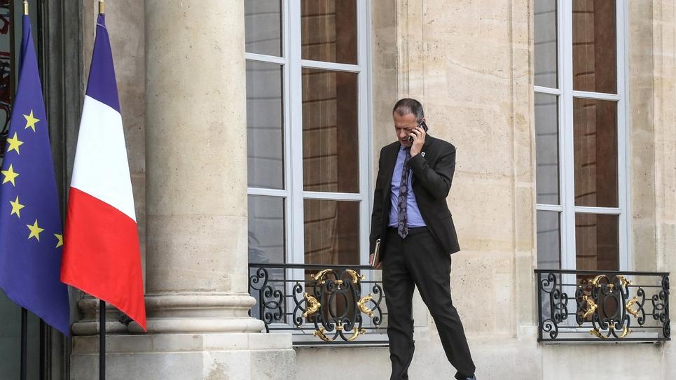 Le secrétaire général de Force ouvrière Pascal Pavageau, le 17 juillet 2018 à l'Elysée
