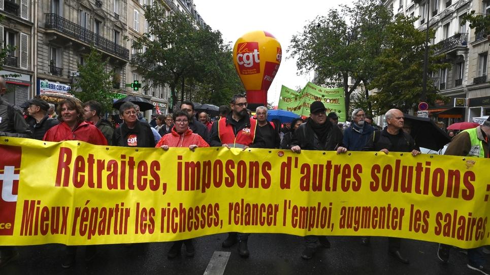Manifestation de la CGT contre les retraites, le 24 septembre à Paris