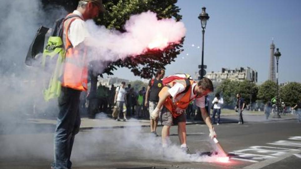 Manifestation de cheminots contre la réforme ferroviaire le 24 juin 2014 à Paris