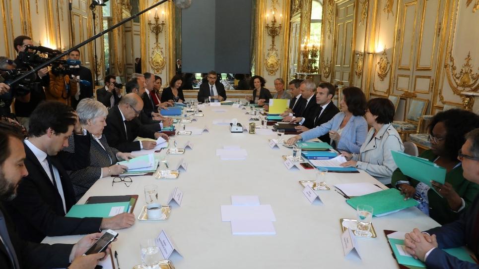 Le premier Conseil de défense écologique (CDE) réuni à l'Elysée le 23 mai 2019