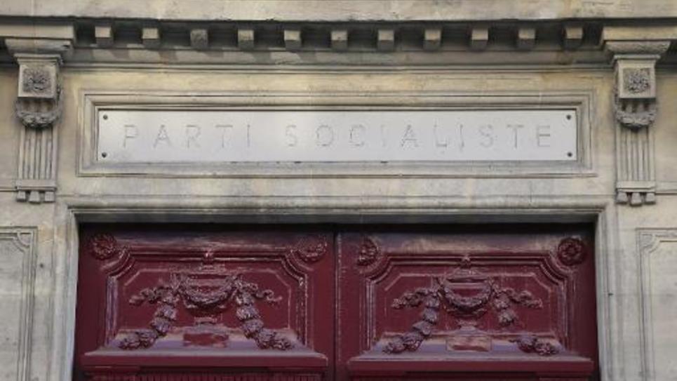 Le QG du Parti socialiste rue de Solférino à Paris