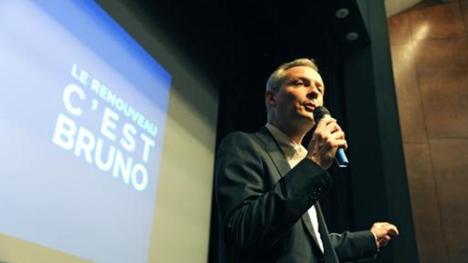 Bruno Le Maire lors d'un meeting le 18 novembre 2014 à Neuilly-sur-Seine