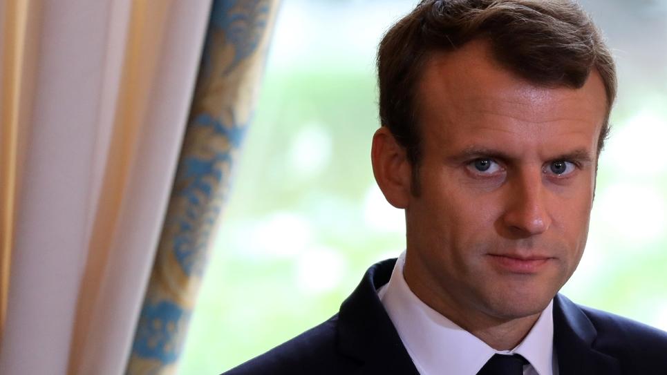 Le président français Emmanuel Macron, le 5 octobre 2017 au palais de l'Elysée à Paris