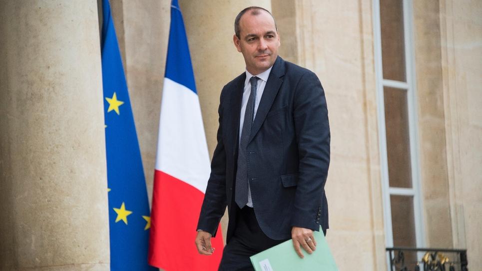 Laurent Berger, secrétaire général de la CFDT, le 13 octobre 2017 au palais de l'Elysée à Paris