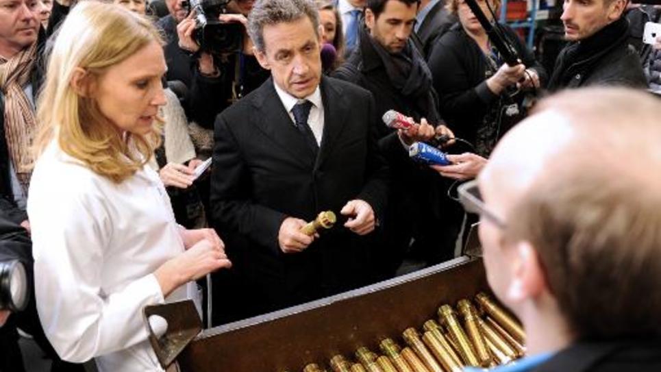 Nicolas Sarkozy à Armentières (Nord), le 25 mars 2015