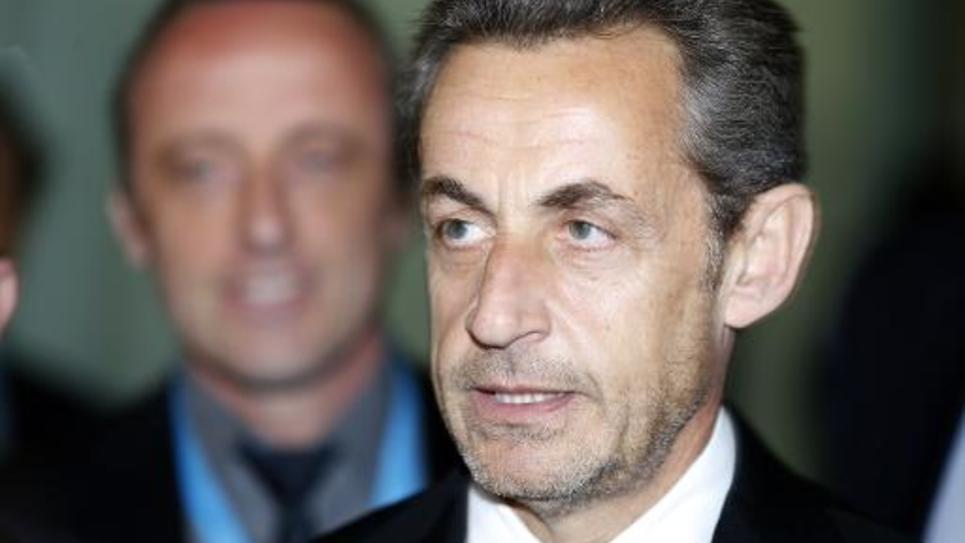 Nicolas Sarkozy à Nice, le 10 mars 2014