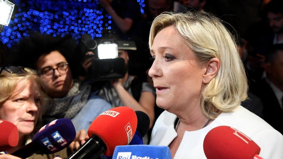 La présidente du Rassemblement National Marine Le Pen, le 26 mai 2019 à Paris