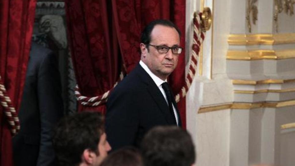 Le président François Hollande le 28 mai 2015 à l'Elysée à Paris