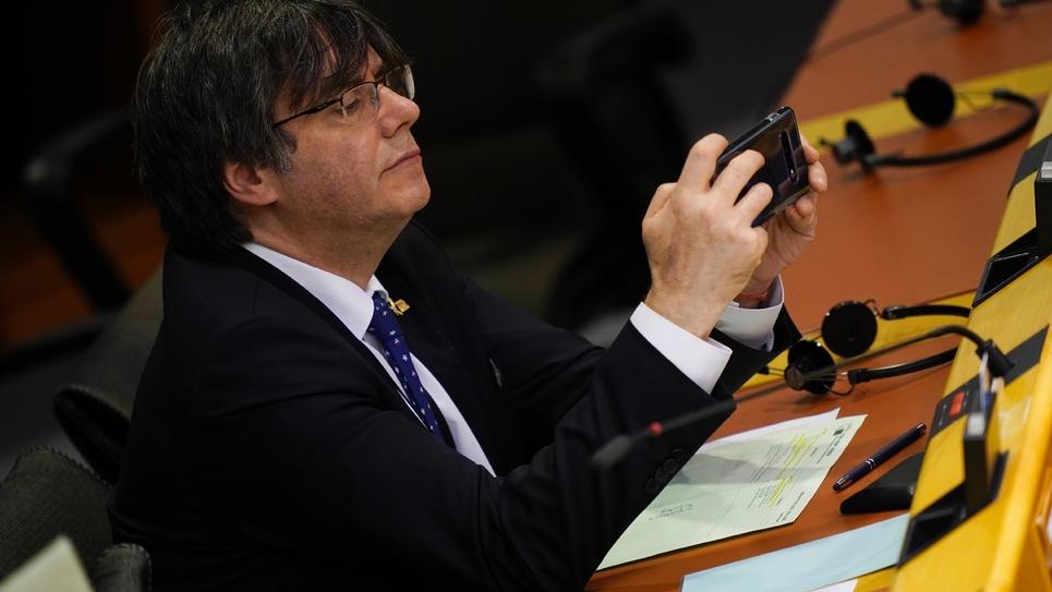 Le député européen Carles Puigdemont au Parlement européen à Bruxelles, le 29 janvier 2020